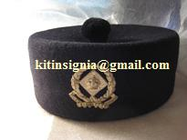 Straits Settlements Police pillbox hat